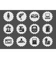 kitchen utensils icon set vector image vector image