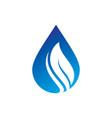 leaf waterdrop logo image vector image