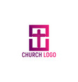 logo of the church christian symbols vector image