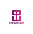 logo of the church christian symbols vector image vector image