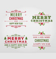 merry christmas label collection vector image vector image