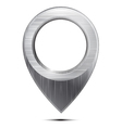 Metal map pointer on a white background vector image