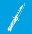 military knife icon white vector image vector image