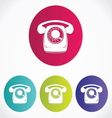 Old phone icons vector image vector image