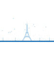 Outline Eiffel Tower vector image vector image