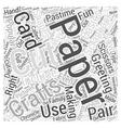 paper crafts Word Cloud Concept vector image vector image