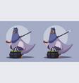 pigeon a robber thug life vector image
