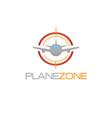 plane zone logo vector image