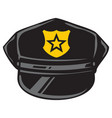 police hat design vector image vector image