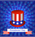 presidents day the concept of a national holiday vector image vector image