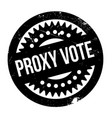proxy vote rubber stamp vector image vector image