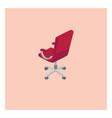 red chair on white background vector image vector image