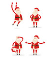 santa christmas collection vector image vector image