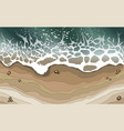 sea wave splashed on the beach background vector image vector image