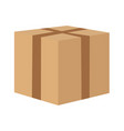 seal the cardboard box to move vector image vector image