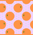 seamless vintage pattern with orange fruits vector image