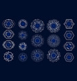 set hud circle elements for technology modern vector image vector image