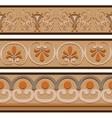 Set of ancient Roman ornaments border patterns vector image