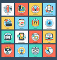 set of design and development flat icons vector image