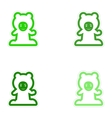 Set of paper stickers on white background child vector image vector image