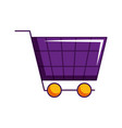 shopping cart market ecommerce isolated image vector image