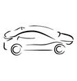 simple sketch car vector image