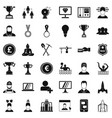 solution icons set simple style vector image vector image