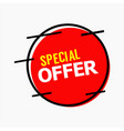 special offer template design vector image vector image