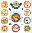 summer and travel labels vector image