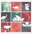 symbols of australian culture and nature vector image