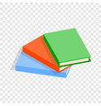 three thin books isometric icon vector image vector image