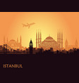 traditional tourist symbols turkey in form vector image vector image