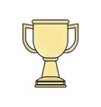 trophy cup isolated vector image