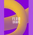 ultra violet purple colors liquid fluid shape vector image vector image