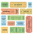 vintage admitted cinema music festival pass vector image