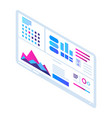visualization banner icon isometric style vector image