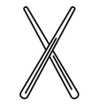 wood chopsticks icon outline style vector image vector image