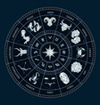 zodiac circle round horoscope with cancer vector image