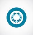 wreath icon bold blue circle border vector image