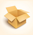 3d open cardboard box vector image