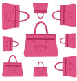 fashion bag pattern vector image