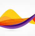 purple and yellow color wave background design vector image