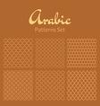 Arabic seamless patterns set vector image