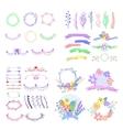 Big set of cute floral design elements vector image