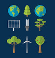 green energy and world collection vector image
