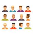 male avatars vector image