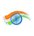 15 august indian independence day greeting poster vector image vector image
