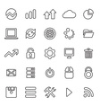 25 outline universal big data database icons vector image