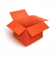 3d open gift red box vector image