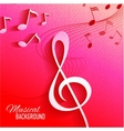 Abstract background with music key and notes vector image vector image